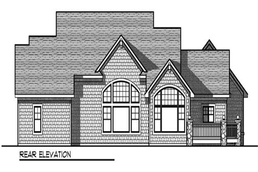 Home Plan Rear Elevation of this 2-Bedroom,2614 Sq Ft Plan -101-1749