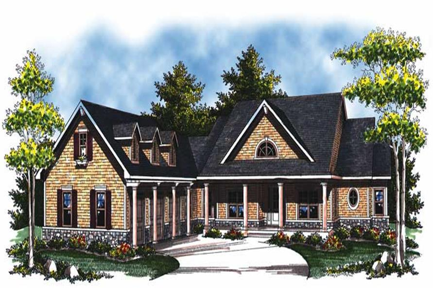 2-Bedroom, 2614 Sq Ft Country House Plan - 101-1749 - Front Exterior
