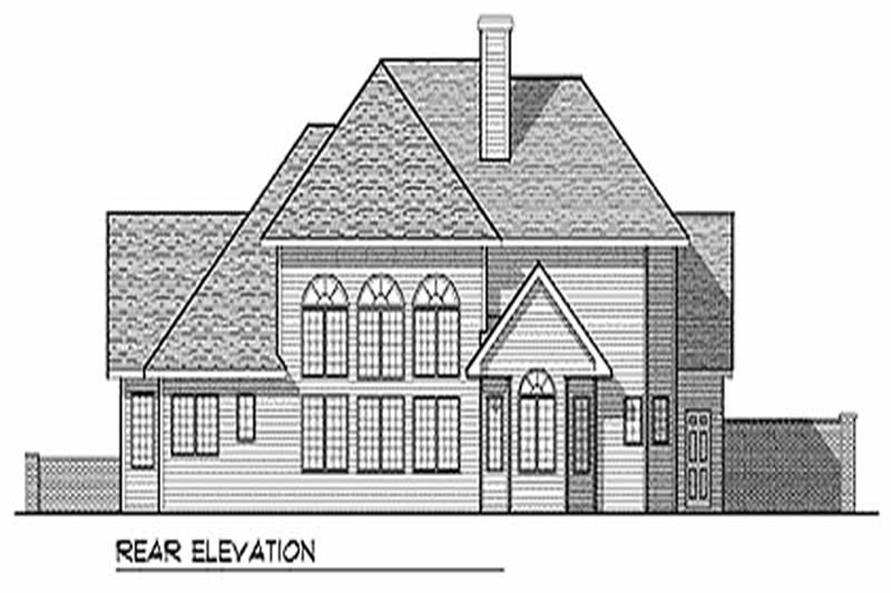 Home Plan Rear Elevation of this 3-Bedroom,2649 Sq Ft Plan -101-1750