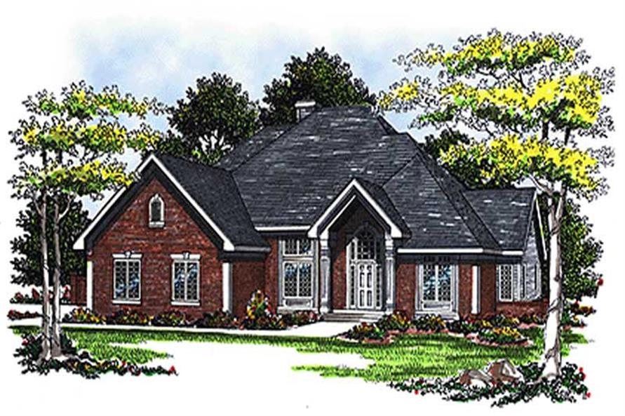 3-Bedroom, 2649 Sq Ft European House Plan - 101-1750 - Front Exterior