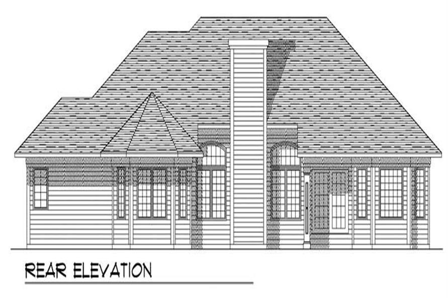 Home Plan Rear Elevation of this 3-Bedroom,2234 Sq Ft Plan -101-1751