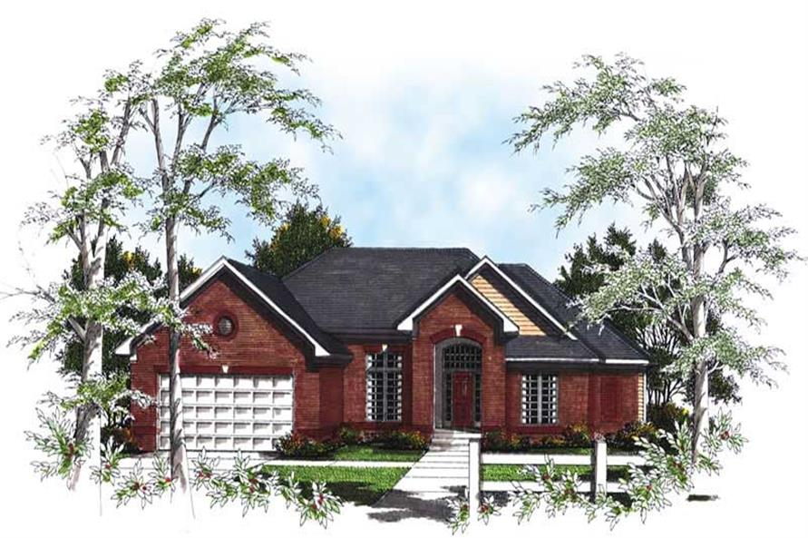 3-Bedroom, 2234 Sq Ft Ranch House Plan - 101-1751 - Front Exterior
