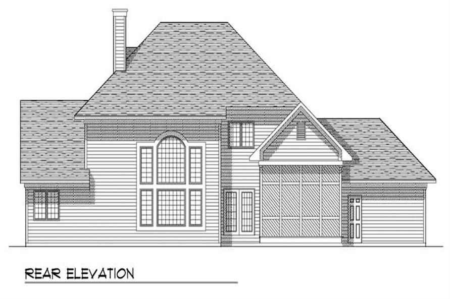 Home Plan Rear Elevation of this 3-Bedroom,2650 Sq Ft Plan -101-1754