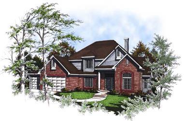 3-Bedroom, 2650 Sq Ft Craftsman House Plan - 101-1754 - Front Exterior