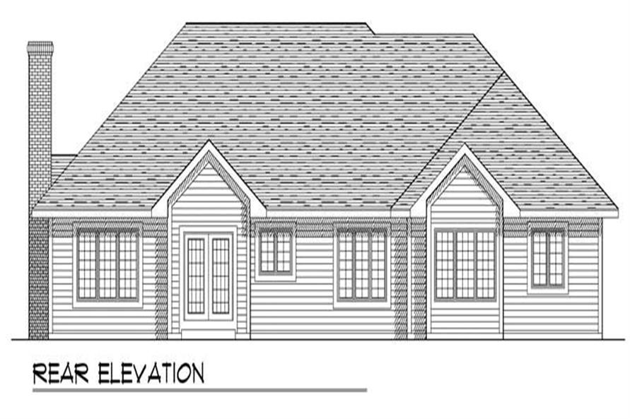 Home Plan Rear Elevation of this 3-Bedroom,1984 Sq Ft Plan -101-1758
