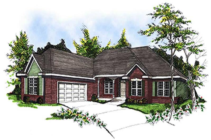 3-Bedroom, 2111 Sq Ft Colonial Home Plan - 101-1759 - Main Exterior