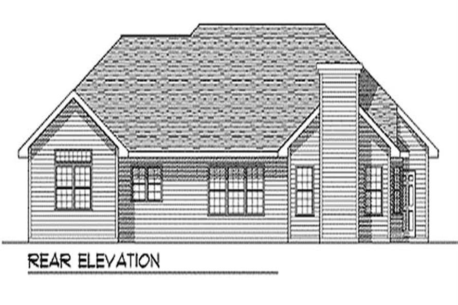 Home Plan Rear Elevation of this 3-Bedroom,2111 Sq Ft Plan -101-1759