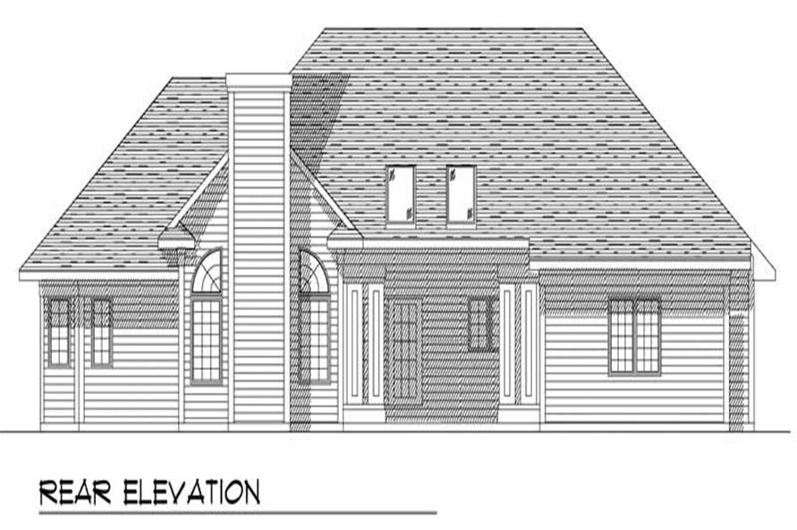 Home Plan Rear Elevation of this 3-Bedroom,2155 Sq Ft Plan -101-1760