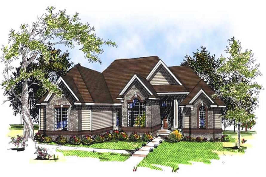 3-Bedroom, 2155 Sq Ft Ranch House Plan - 101-1760 - Front Exterior