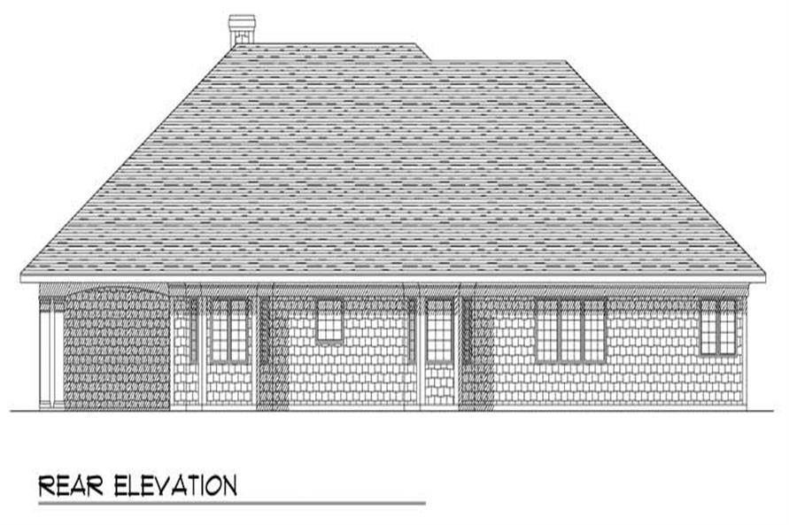Home Plan Rear Elevation of this 3-Bedroom,2286 Sq Ft Plan -101-1761