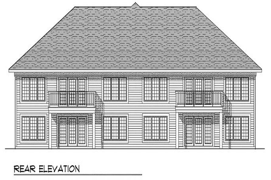 Home Plan Rear Elevation of this 2-Bedroom,2600 Sq Ft Plan -101-1766