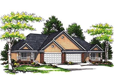 2-Bedroom, 2600 Sq Ft Multi-Unit House Plan - 101-1766 - Front Exterior