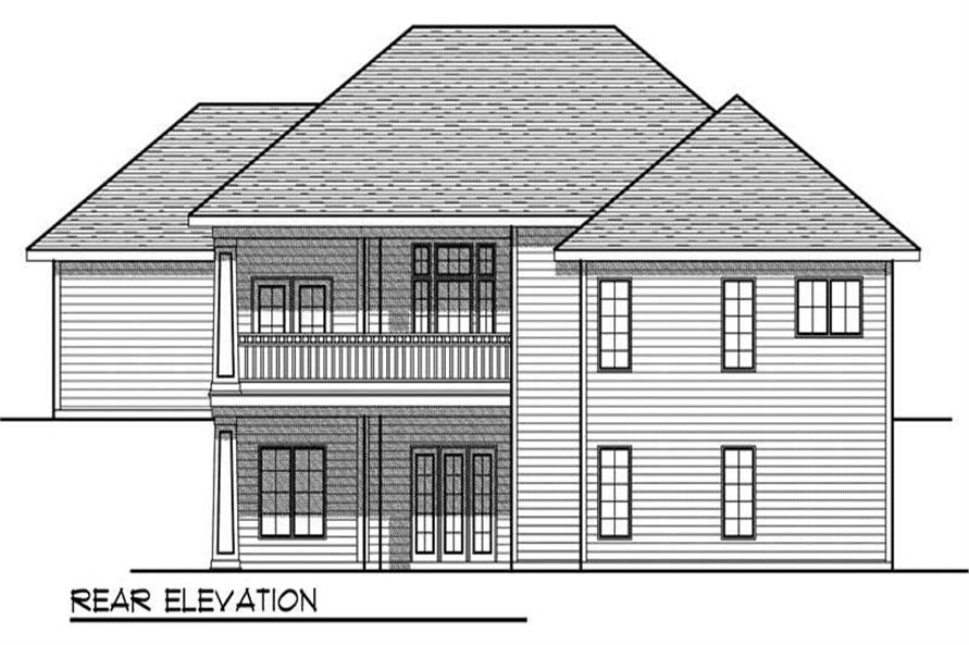 Home Plan Rear Elevation of this 3-Bedroom,3082 Sq Ft Plan -101-1770