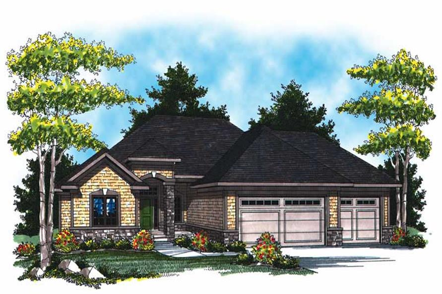 3-Bedroom, 3082 Sq Ft Country House Plan - 101-1770 - Front Exterior