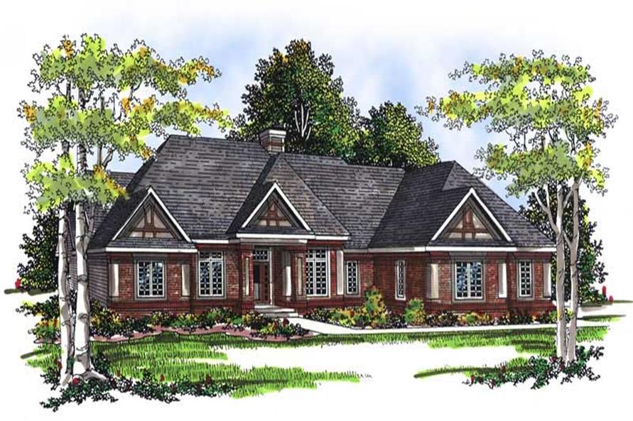 2-Bedroom, 2121 Sq Ft Ranch Home Plan - 101-1773 - Main Exterior