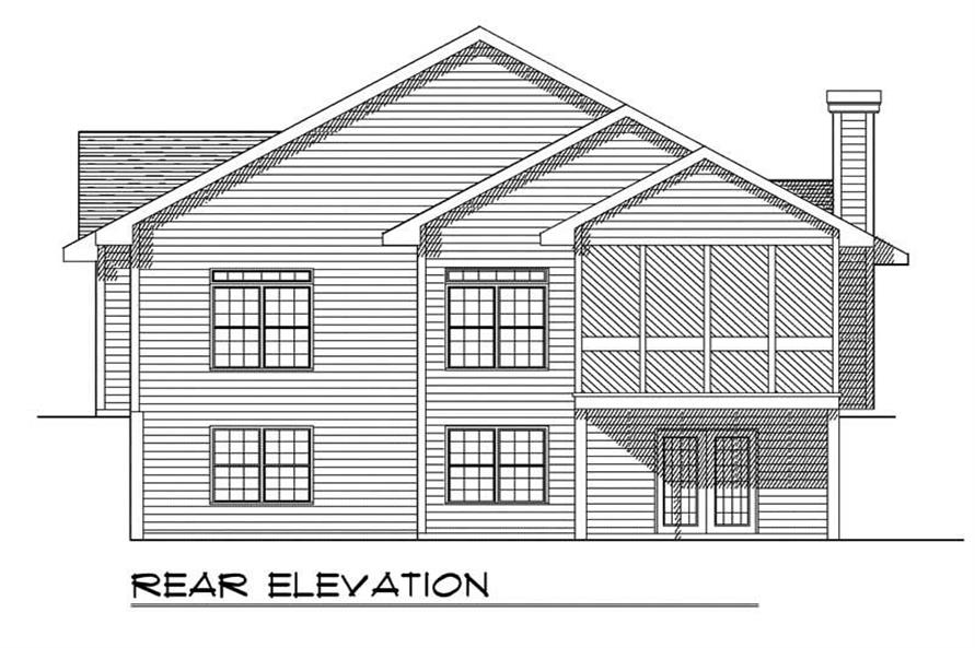 Home Plan Rear Elevation of this 3-Bedroom,2404 Sq Ft Plan -101-1775