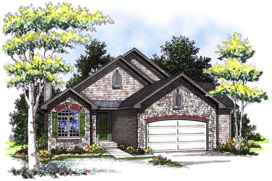 3-Bedroom, 2404 Sq Ft Bungalow House Plan - 101-1775 - Front Exterior