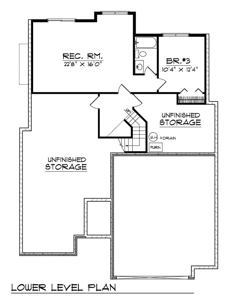 bungalow ranch home with 3 bdrms 2404 sq ft floor