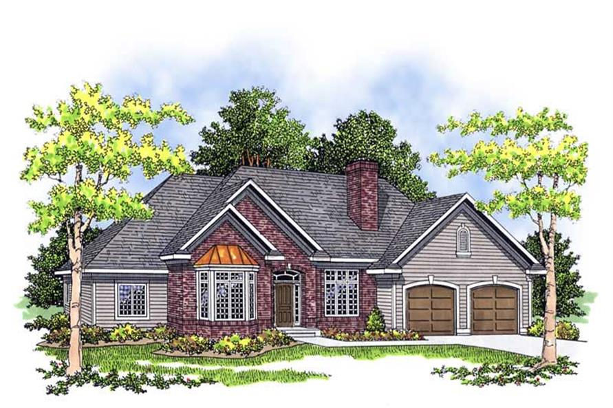 3-Bedroom, 2153 Sq Ft Ranch Home Plan - 101-1776 - Main Exterior