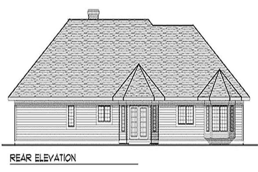 Home Plan Rear Elevation of this 3-Bedroom,2153 Sq Ft Plan -101-1776