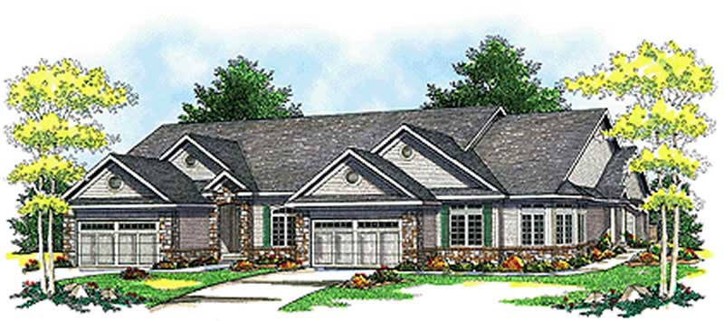 Multi unit home with 2 bdrms 5217 sq ft floor plan 101 for Multi unit home plans