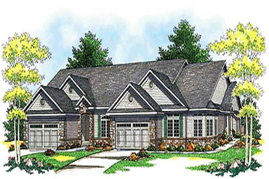 2-Bedroom, 5217 Sq Ft Multi-Unit Home Plan - 101-1778 - Main Exterior