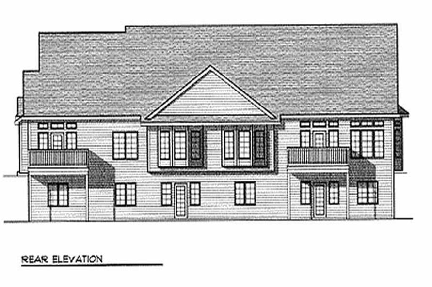 Home Plan Rear Elevation of this 2-Bedroom,5217 Sq Ft Plan -101-1778