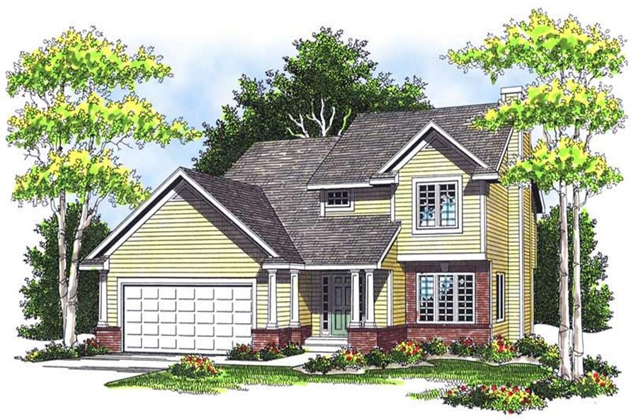 3-Bedroom, 1552 Sq Ft Country Home Plan - 101-1779 - Main Exterior