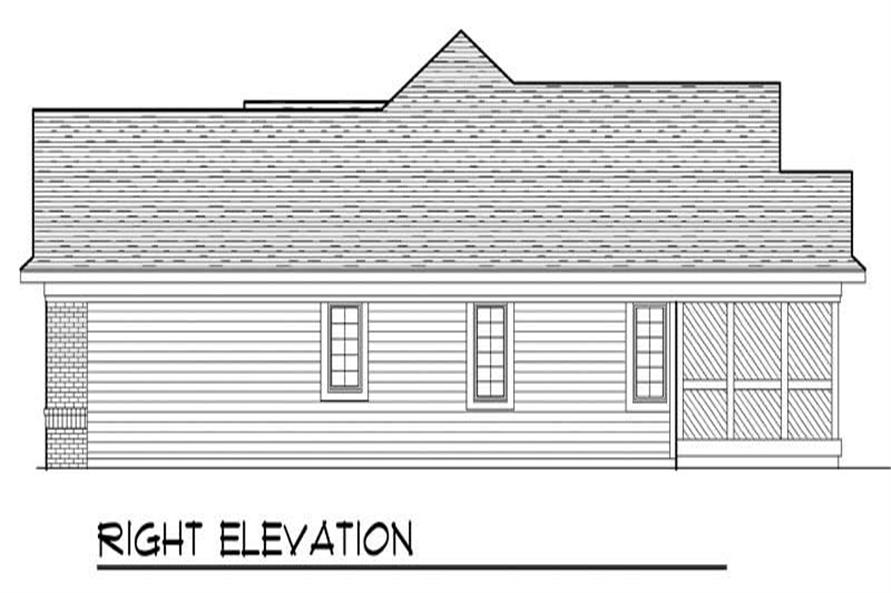 Home Plan Right Elevation of this 3-Bedroom,1495 Sq Ft Plan -101-1781