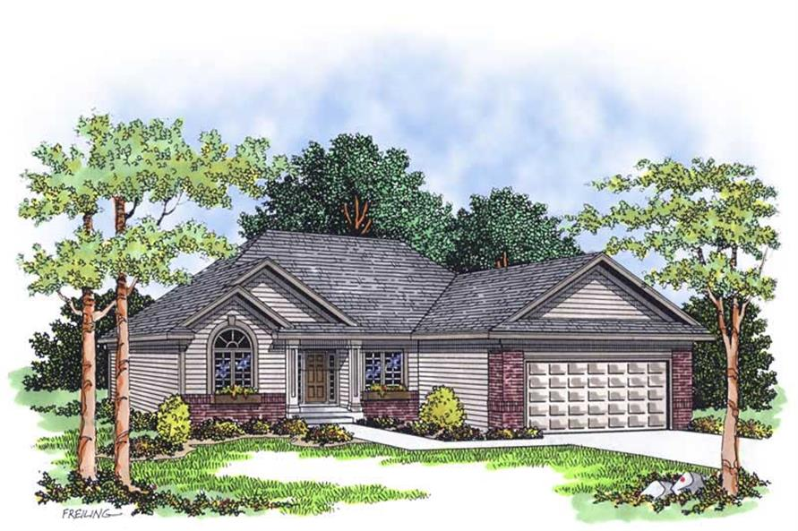 3-Bedroom, 1495 Sq Ft Ranch Home Plan - 101-1781 - Main Exterior