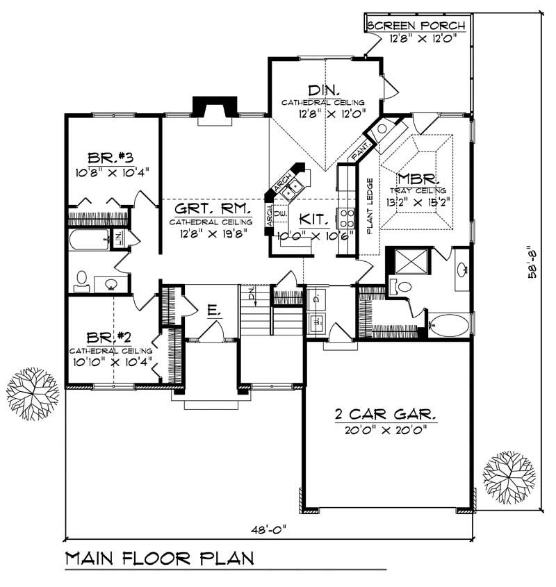 House Design 101: Ranch - Small Home With 3 Bdrms, 1495 Sq Ft