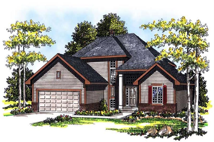 3-Bedroom, 2018 Sq Ft Prairie Home Plan - 101-1782 - Main Exterior