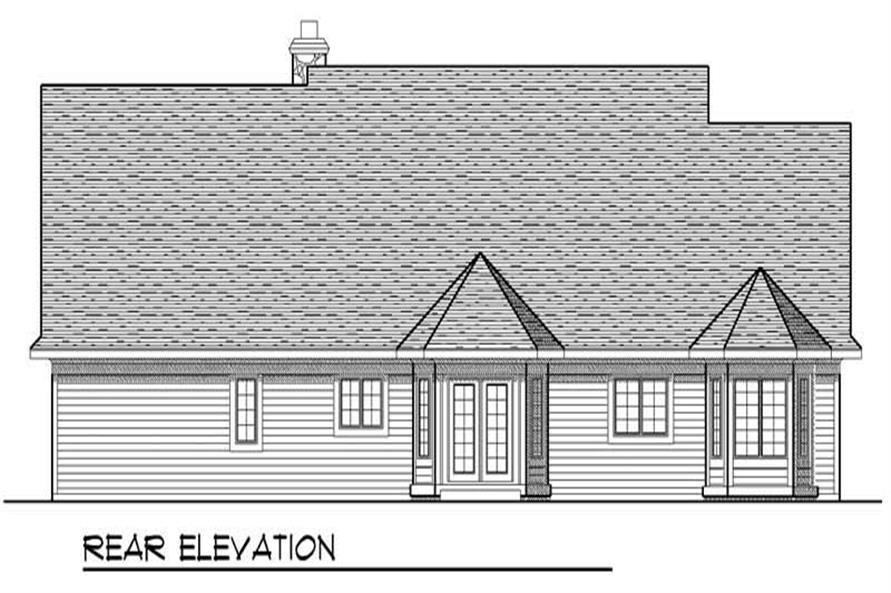 Home Plan Rear Elevation of this 3-Bedroom,1895 Sq Ft Plan -101-1784