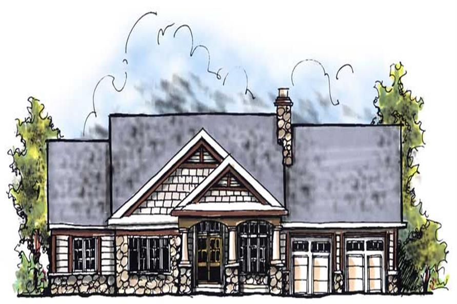 3-Bedroom, 1895 Sq Ft Ranch House Plan - 101-1784 - Front Exterior
