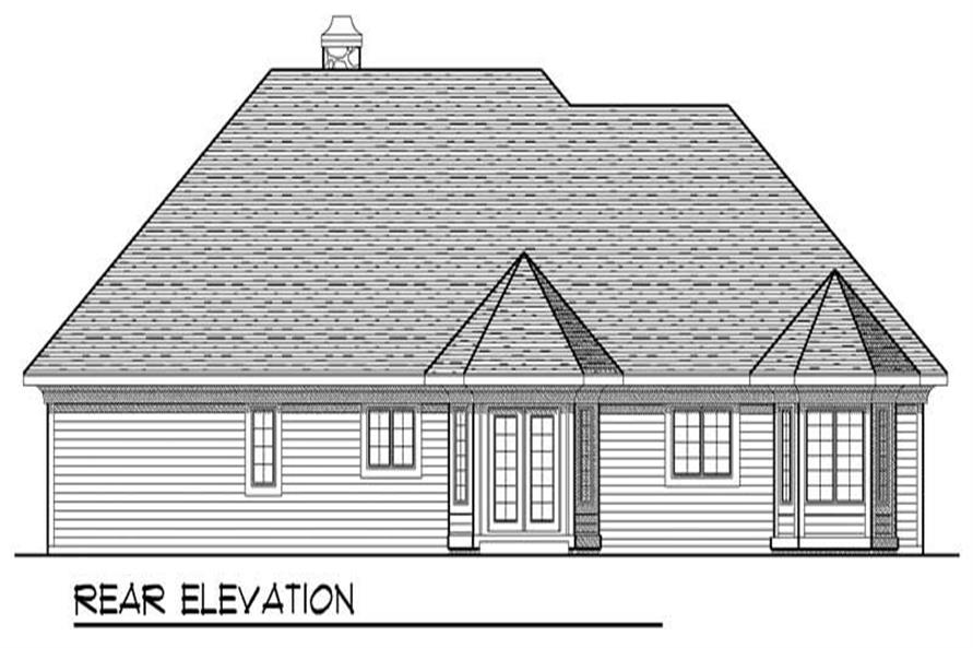 Home Plan Rear Elevation of this 3-Bedroom,1882 Sq Ft Plan -101-1785
