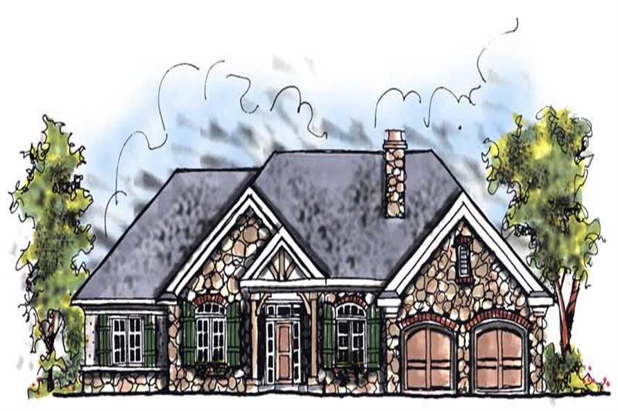 3-Bedroom, 1882 Sq Ft Craftsman House Plan - 101-1785 - Front Exterior