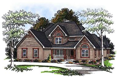 4-Bedroom, 3230 Sq Ft Cape Cod House Plan - 101-1790 - Front Exterior