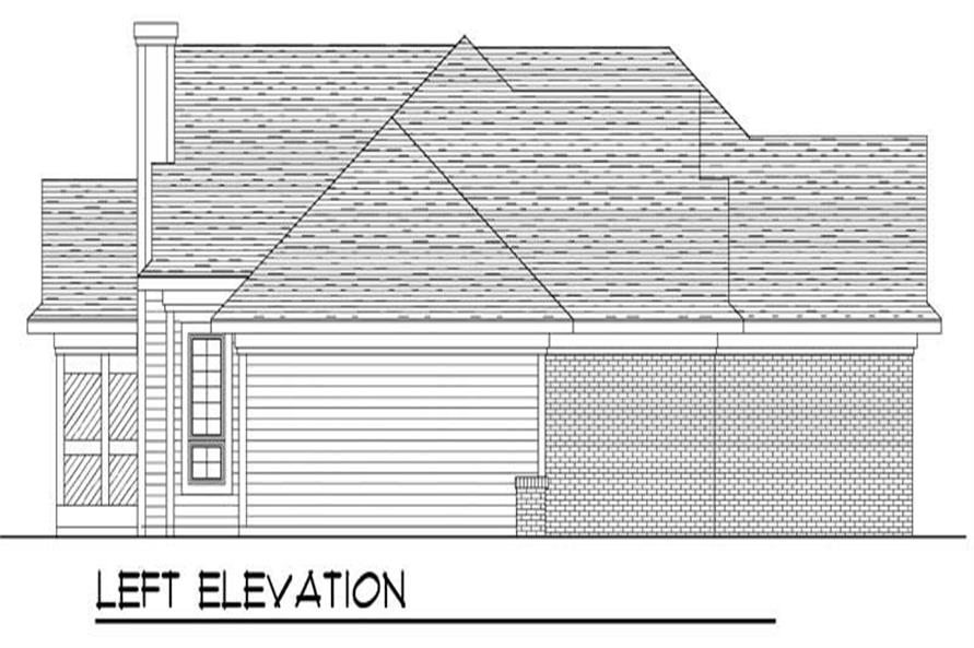 Home Plan Left Elevation of this 3-Bedroom,1795 Sq Ft Plan -101-1791