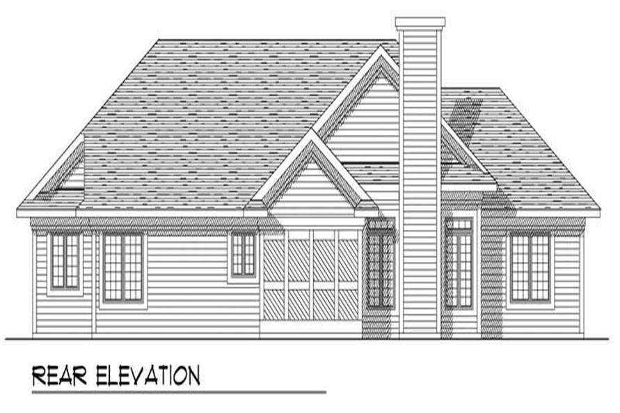 Home Plan Rear Elevation of this 3-Bedroom,1795 Sq Ft Plan -101-1791