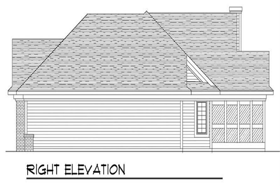 Home Plan Right Elevation of this 3-Bedroom,1795 Sq Ft Plan -101-1791