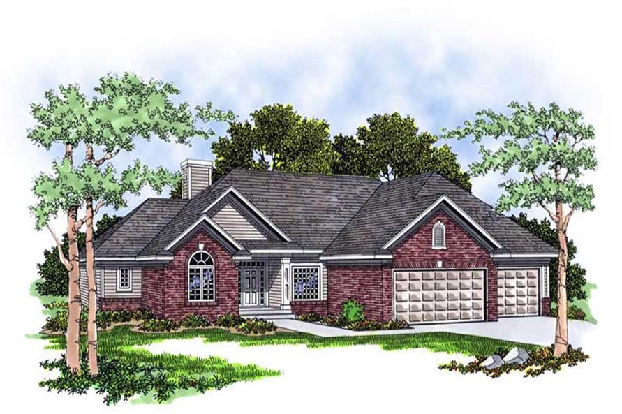 3-Bedroom, 1795 Sq Ft Country House Plan - 101-1791 - Front Exterior
