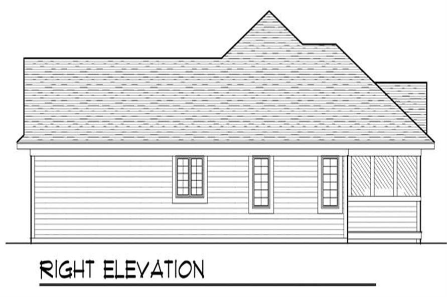 Home Plan Right Elevation of this 3-Bedroom,1460 Sq Ft Plan -101-1792