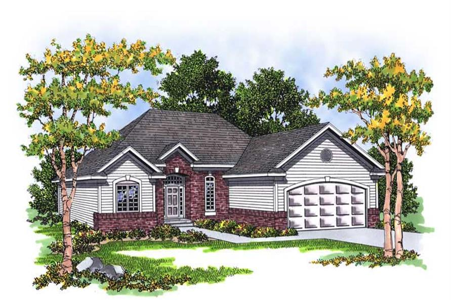 Home Plan Rendering of this 3-Bedroom,1460 Sq Ft Plan -101-1792