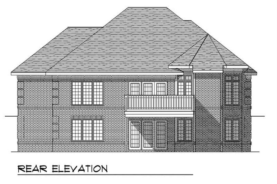 Home Plan Rear Elevation of this 2-Bedroom,1771 Sq Ft Plan -101-1794