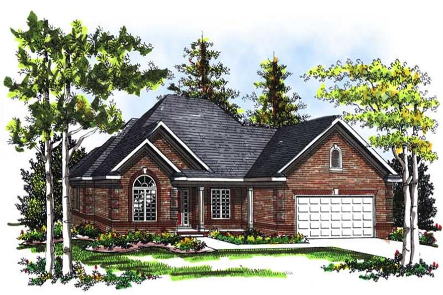 2-Bedroom, 1771 Sq Ft Ranch House Plan - 101-1794 - Front Exterior