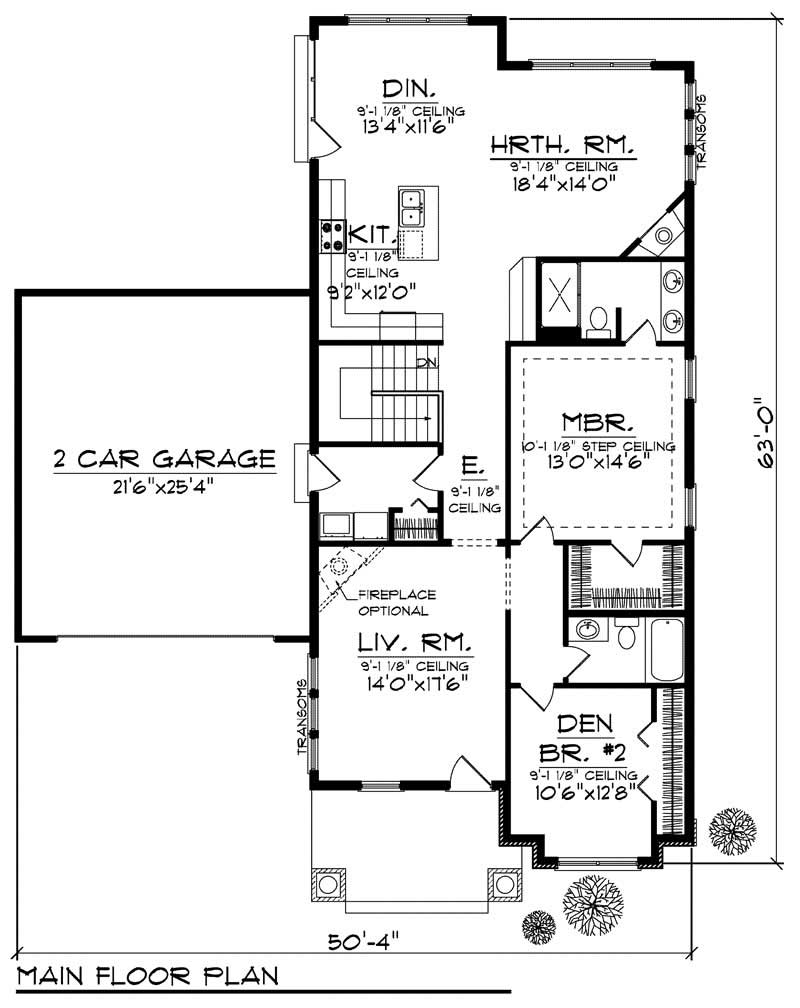 Craftsman home with 2 bdrms 1649 sq ft house plan 101 1800 for 1800 sqft 2 story house plans
