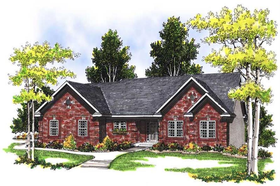 3-Bedroom, 1700 Sq Ft Ranch House Plan - 101-1805 - Front Exterior