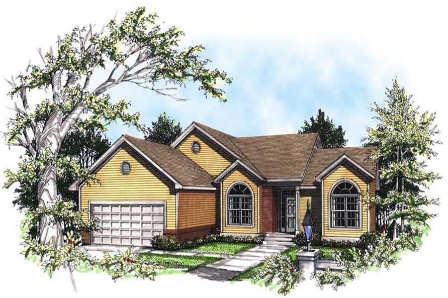 3-Bedroom, 1730 Sq Ft Ranch Home Plan - 101-1808 - Main Exterior