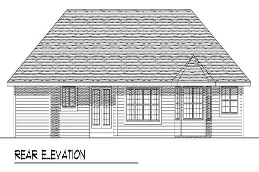 Home Plan Rear Elevation of this 3-Bedroom,1763 Sq Ft Plan -101-1809