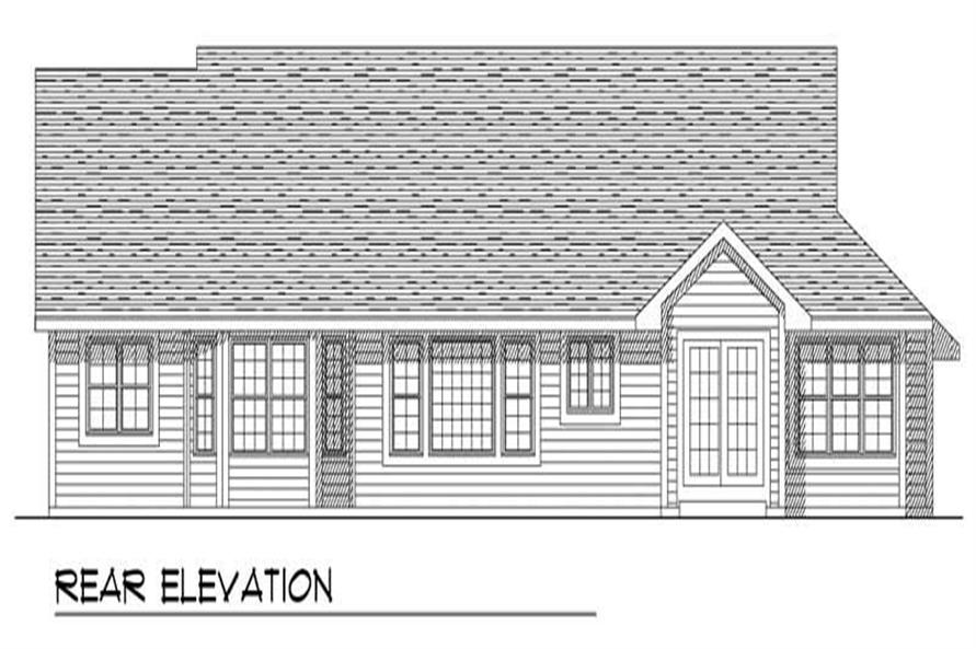 Home Plan Rear Elevation of this 3-Bedroom,1821 Sq Ft Plan -101-1810